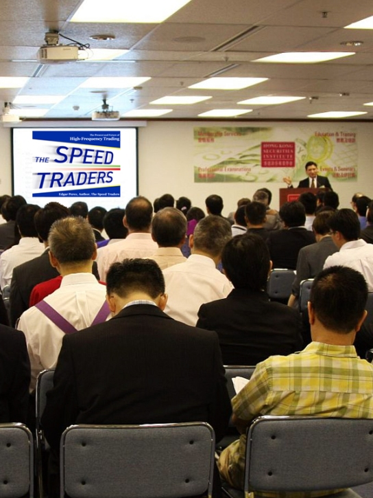Edgar Perez, The Speed Traders, Keynote Speaker at High-Frequency Trading Leaders Forum 2011 Hong Kong