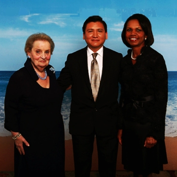 Madeleine Albright, Edgar Perez and Condoleezza Rice at CME Group's Global Financial Leadership Conference 2012