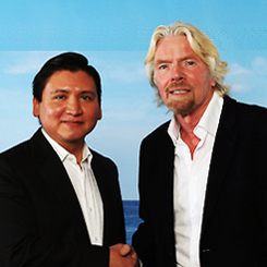 Edgar Perez and Sir Richard Branson